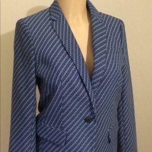 Banana Republic blue pattern blazer Sz 6